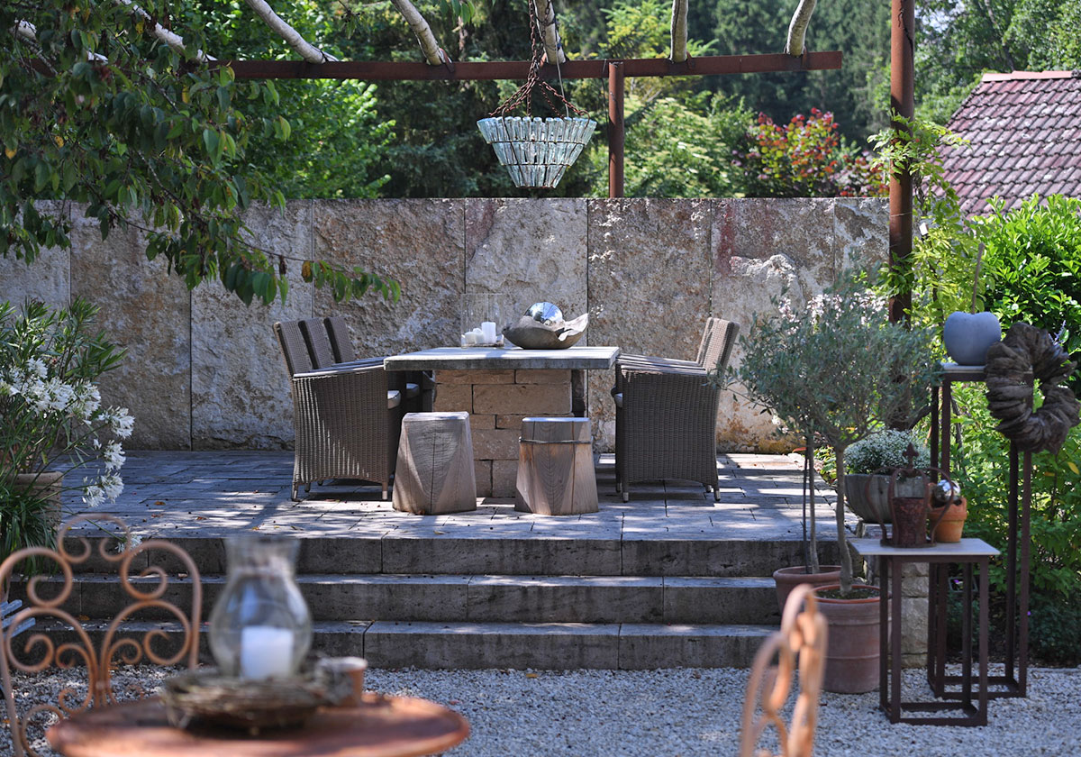 Großartig Gartentraum Beste Wahl Hochwertiges Material Wie Tenplatten Und Getrommeltes Mauerwerk